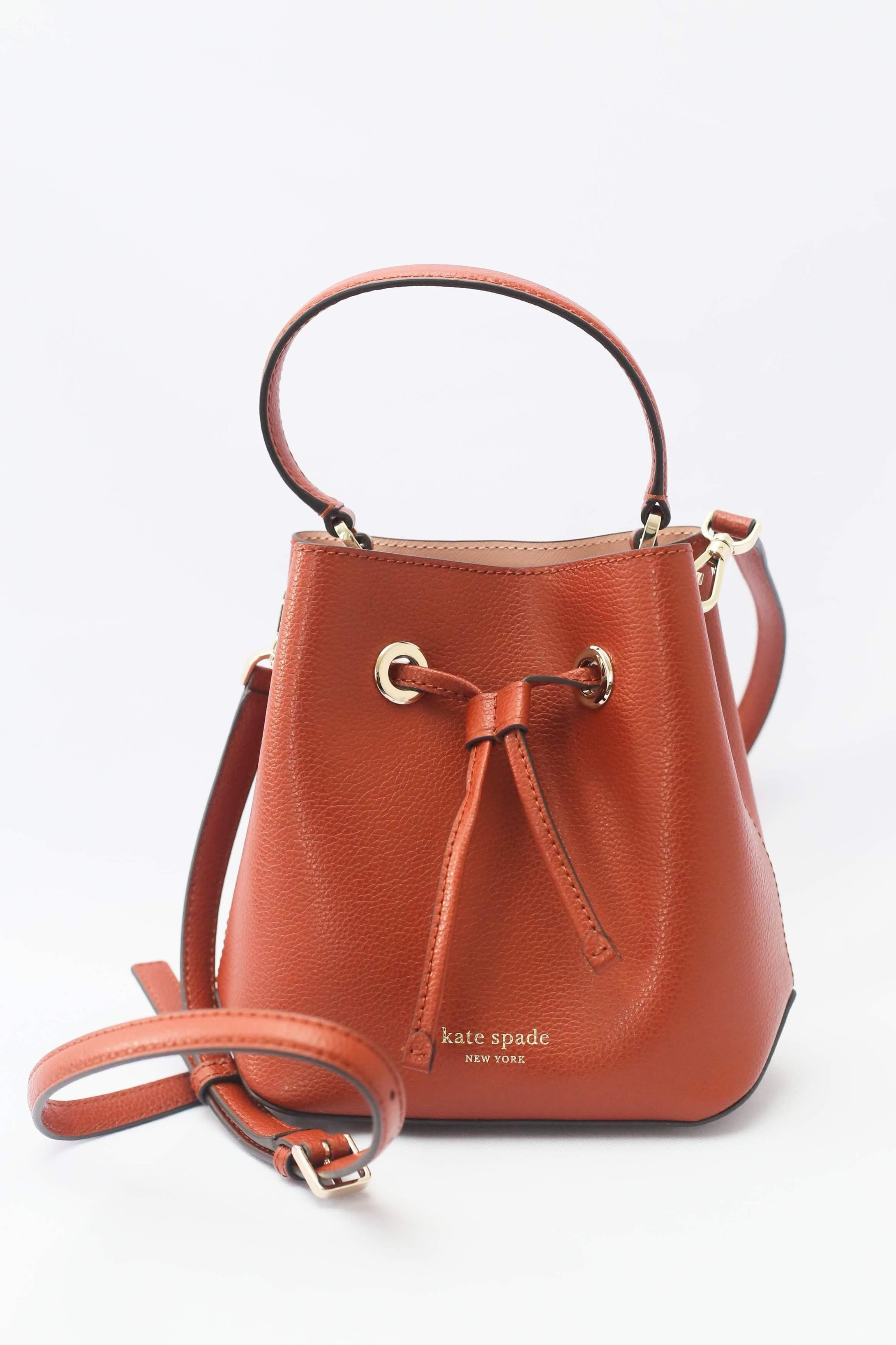 Kate Spade Eva Small Bucket Bag (Chestnut Butter)