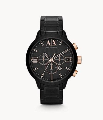 Armani Exchange Chronograph AX1350 Black Stainless Steel Watch