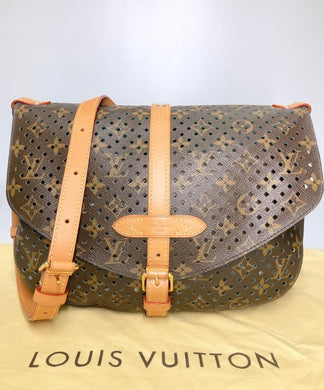 Preloved Louis Vuitton Limited Edition Monogram Saumur 30 Flore Perforated