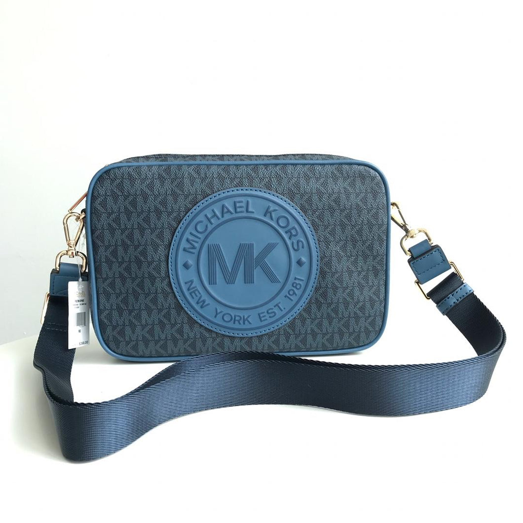 Michael Kors Fulton Sport 35F9GF0C3B Large EW Crossbody Bag (Dark Chambray Multi)