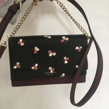 Load image into Gallery viewer, Kate spade Convertible Crossbody Cameron Dusk Buds Ditsy WKRU6372 (Black Multi)