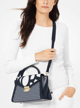 Load image into Gallery viewer, Whitney Medium Graphic Logo Satchel (ADMIRAL/OPTIC WHITE)