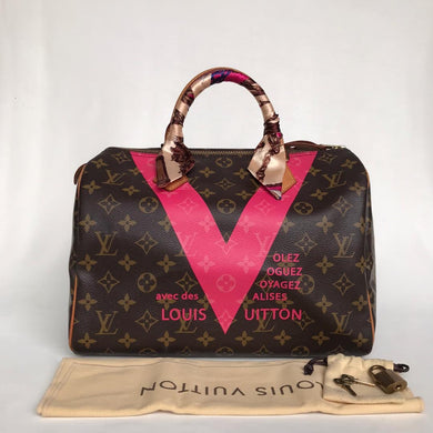 Preloved Louis Vuitton Limited Edition V Grenade Speedy 30