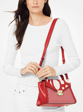 Load image into Gallery viewer, Michael Kors Whitney Medium Graphic Logo Satchel 30S9LWHS20 In Red White