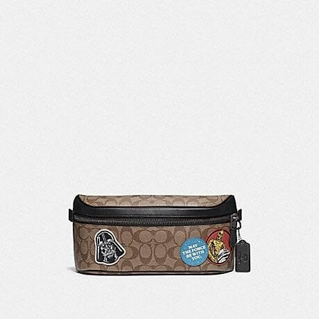 Coach STAR WARS X COACH WESTWAY BELT BAG IN SIGNATURE CANVAS WITH PATCHES F79950 (QB/TAN MULTI)