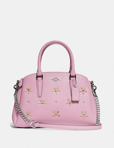 COACH MINI SAGE CARRYALL WITH ALLOVER STUDS F72833 (TULIP)
