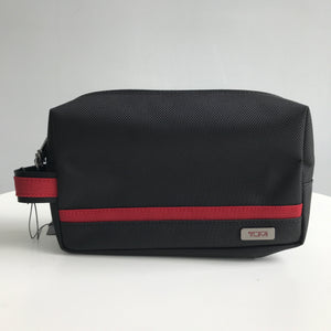 TUMI MEDIUM KIT POUCH (BLACK/RED)