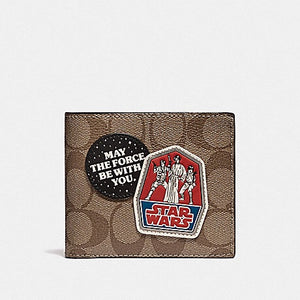Star Wars X Coach 3-In-1 Wallet In Signature Canvas F88118 (Qb/Tan)