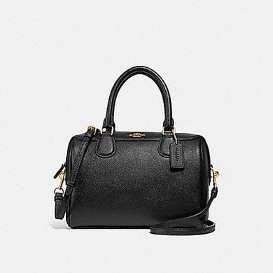 COACH MINI BENNETT SATCHEL F32202 (BLACK/LIGHT GOLD)