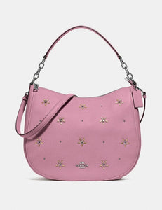 COACH ELLE HOBO WITH ALLOVER STUDS F73208 (TULIP)