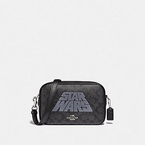 STAR WARS X COACH JES CROSSBODY IN SIGNATURE CANVAS WITH MOTIF F88009 (SV/BLACK SMOKE/BLACK MULTI)