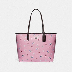 COACH DISNEY X COACH REVERSIBLE CITY TOTE WITH SNOW WHITE AND THE SEVEN DWARFS GEMS PRINT F72827 (MULTI/SILVER)