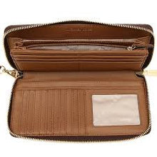 Load image into Gallery viewer, Michael Kors Jet Set Travel Zip Around Continental Wallet 35F8GTVT3B In Brown Acorn