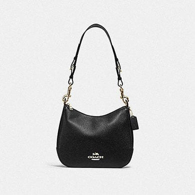 Coach Jes Hobo with Signature Canvas Strap F77980 (Imitate Gold/Black)