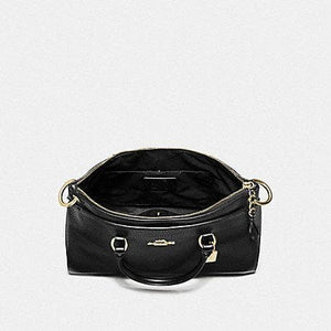 Coach Mia Satchel F78750 (Black/Gold)