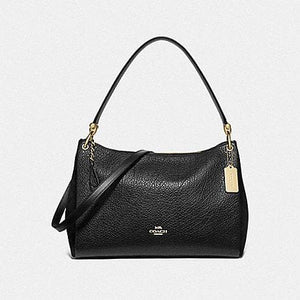 Coach Mia Shoulder Bag F76921 (Black/Gold)