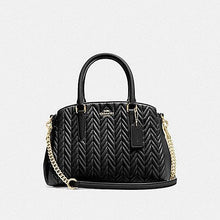 Load image into Gallery viewer, Coach Mini Sage Carryall with Quilting F73063 (Black/Imitation Gold)