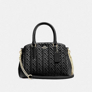 Coach Mini Sage Carryall with Quilting F73063 (Black/Imitation Gold)