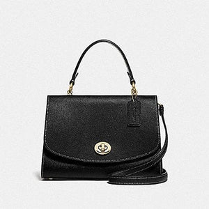Coach Tilly Top Handle Satchel F76618 (Imitation Gold/Black)