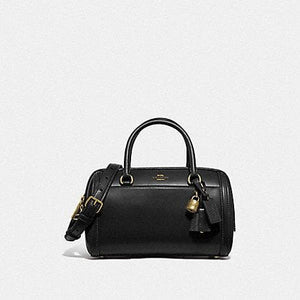 Coach Zoe Barrel Satchel F76705 (Imitation Gold/Black)