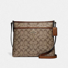 Load image into Gallery viewer, Coach File Crossbody in Signature Canvas F29210 (Khaki/Saddle 2/Imitation Gold)