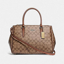 Load image into Gallery viewer, Coach Large Surrey Carryall in Signature Canvas F73312 (Khaki/Saddle 2/Imitation Gold)