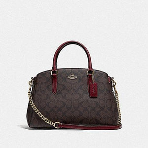 Coach Sage Carryall in Signature Canvas F31986 (Imitation Gold/Brown/Wine)