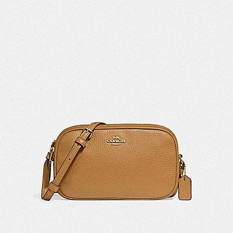 Coach Crossbody Pouch F30259 (Light Saddle/Light Gold)