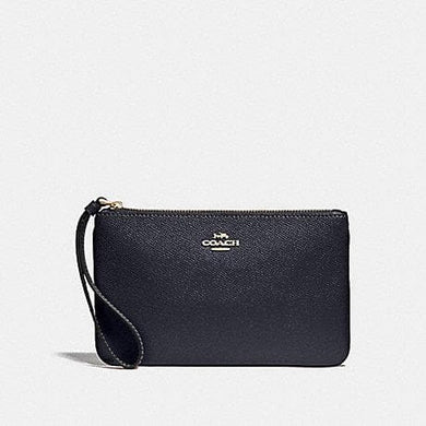COACH LARGE WRISTLET F57465 (Midnight/Gold)