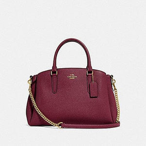 Coach Handbag Sage Carryall F28976 (Wine/Imitation Gold)