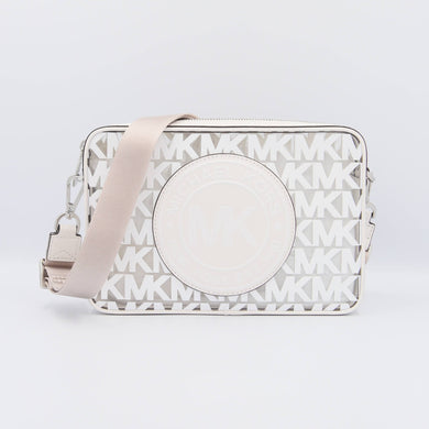 Michael Kors Large EW Fulton Sport 35S0SF0C3P Crossbody Bag In Optic White