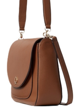 Load image into Gallery viewer, Kate Spade Kailee Medium Flap Shoulder Bag WKRU6487 in Warm Gingerbread