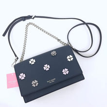 Load image into Gallery viewer, KATE SPADE CAMERON SPADE FLOWER APPLIQUE CONVERTIBLE CROSSBODY WKRU5982 (PETROLBLUE)