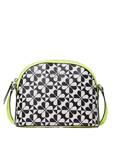 Kate Spade Hollie Spade Clover Geo X-Large Dome Crossbody Bag WKRU6616 In Yellow Multi