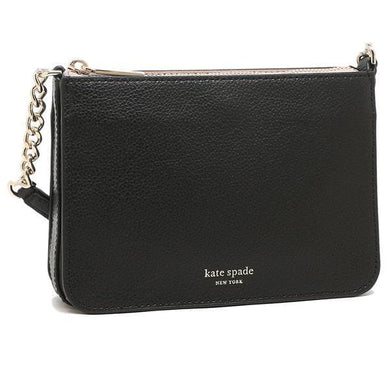 Kate Spade Eva Chain WLRU6276 Crossbody Bag In Black Warmbeige