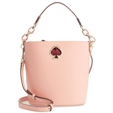 Kate Spade Suzy Small Leather Bucket Bag PXRUA406 In Cosmetic Pink
