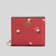 Load image into Gallery viewer, Coach Snap C2868 Wallet In Wine Multi