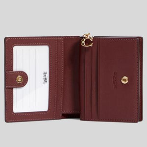 Coach Snap C2868 Wallet In Wine Multi