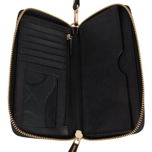 Michael Kors Jet Set Travel 35F8GTVW7L Flat Multifunction Phone Case In Black