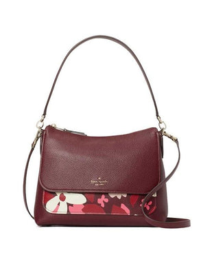 Kate Spade Melody Forest Floral WKRU7069 673 Flap Shoulder Bag In Pink Multi