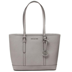Michael Kors Jet Set Travel Small Top Zip Shoulder Tote Bag 35S0STVT1L In Pearl Grey
