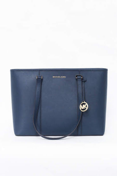 Michael Kors Sady Large Multifunctional Top Zip Tote (Navy)