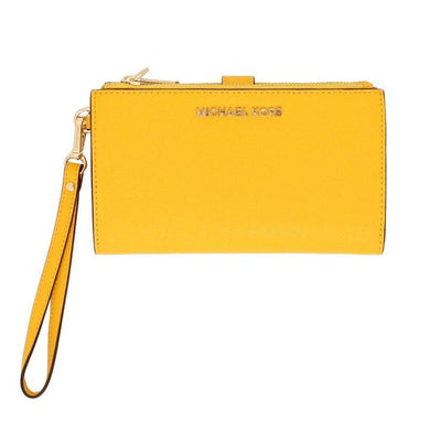 Michael Kors Jet Set Travel Large Double Zip Wristlet 35F8GTVW0L In Yellow