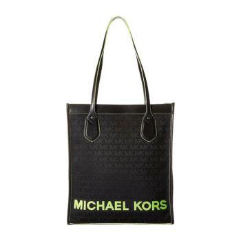 Michael Kors Large Bay 30T9SYIT7C Tote Bag In Neon Yellow