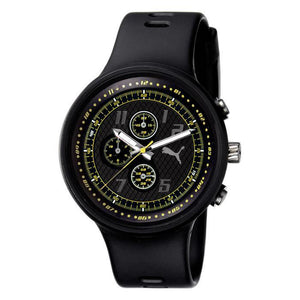 Puma Men's Analogue PU910401004 Black Strap Watch