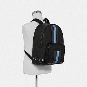 Coach Houston Backpack with Baseball Stitch F76868 (Black/Midnight Navy/Washed Blue/Black Antique Nickel)