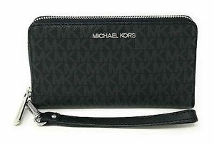 Michael Kors Medium Zip Phone Holder 35S0STVL2B Jet Set Travel In Black