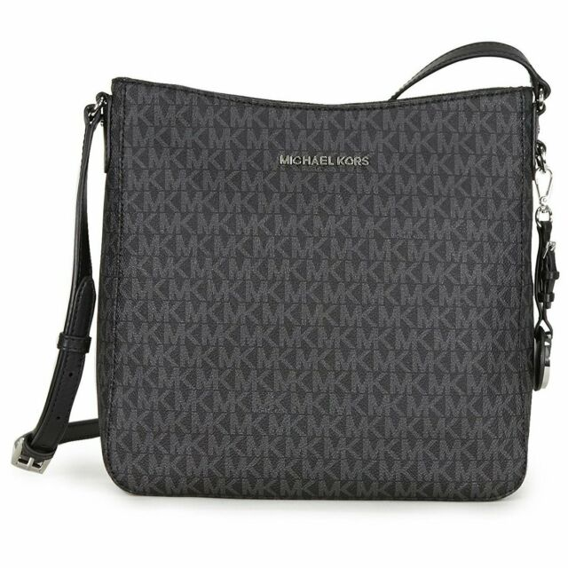 Michael Kors Large Messenger 35F8STVM7B Jet Set Travel Crossbody Bag In Black
