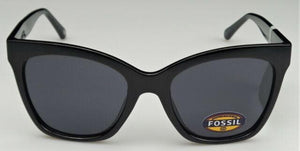 Fossil Large Square FW167 Black Gloss Sunglasses