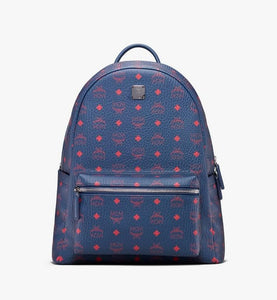 (PRE-ORDER) MCM Stark Backpack in Visetos (Blue | Deep Blue Sea)